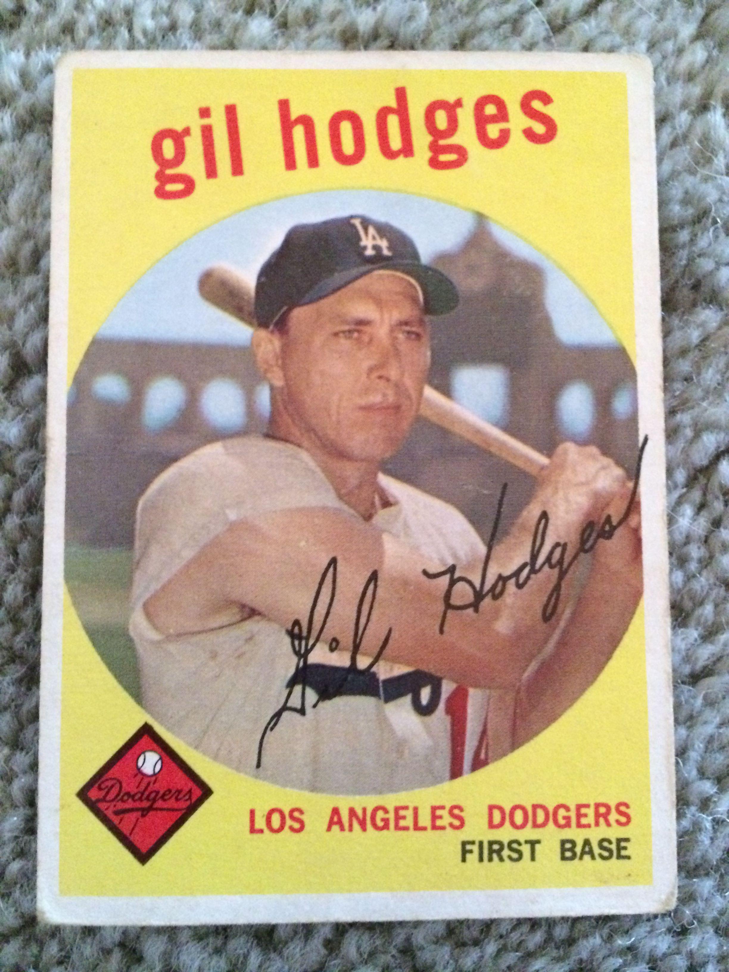 Lot Detail Gil Hodges 1959 Topps Baseball Card