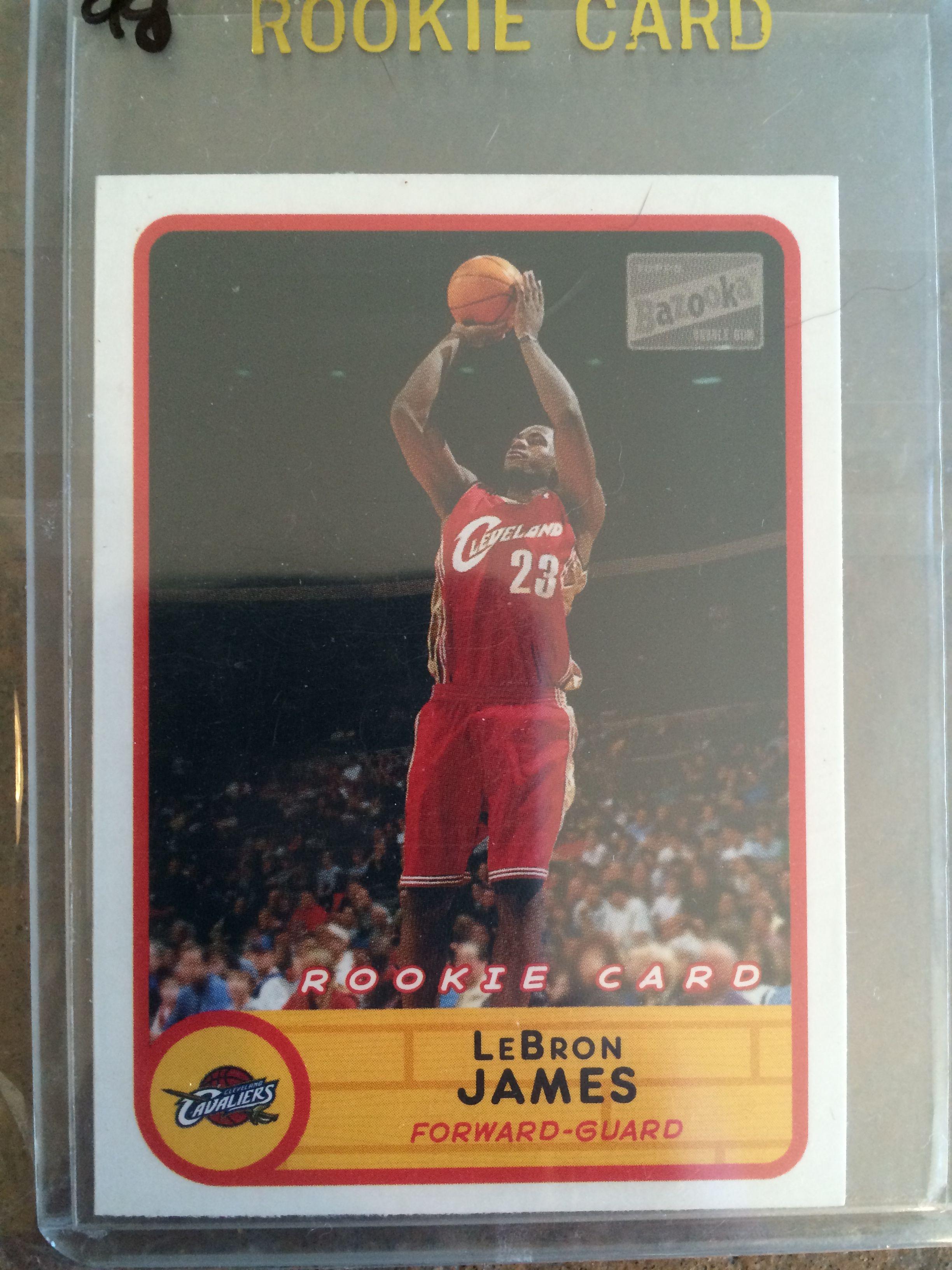 Lot Detail Lebron James 2003 Topps Bazooka Rookie Card