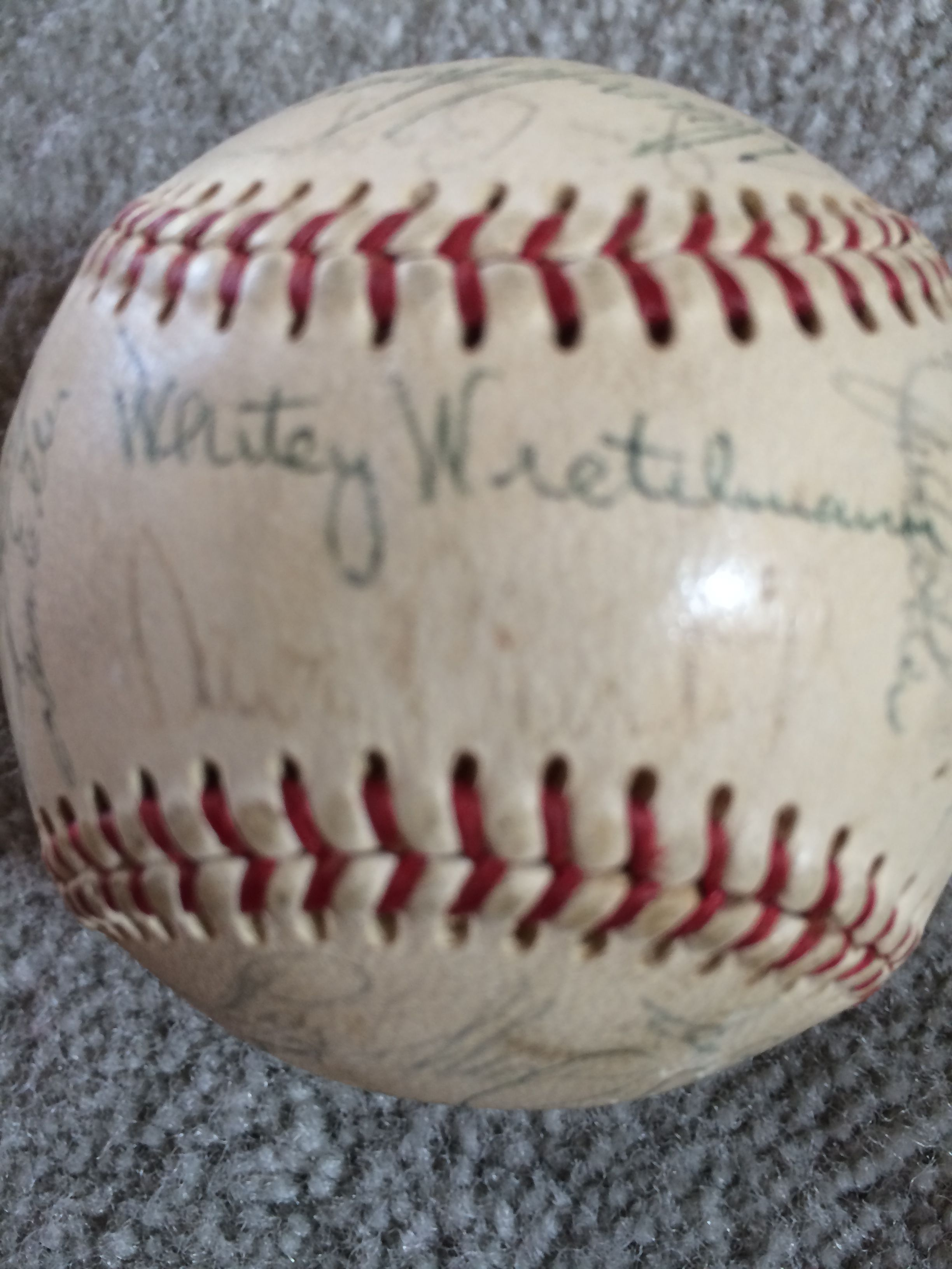 Johnny Bench Autographed Baseball Part - 50: ... 1967 REDS TEAM SIGNED BASEBALL With JOHNNY BENCH ROOKIE READ  DESCRIPTION ...