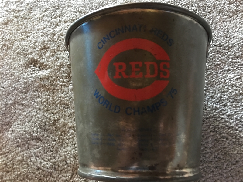 1975 REDS WORLD CHAMPS METAL BUCKET with NAMES