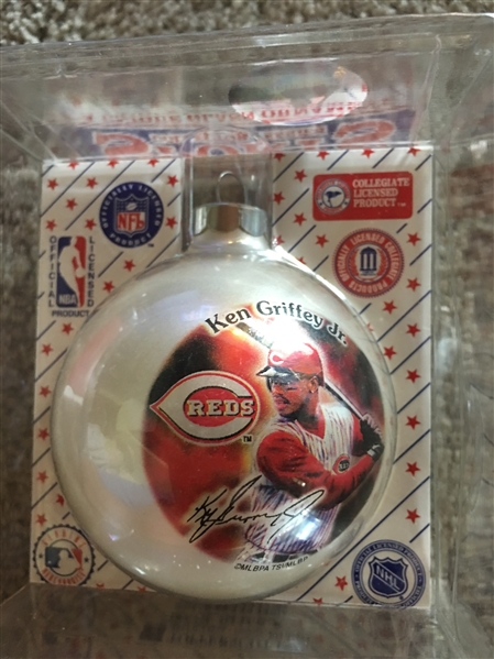 KEN GRIFFEY Jr CHRISTMAS ORNAMENT in Box