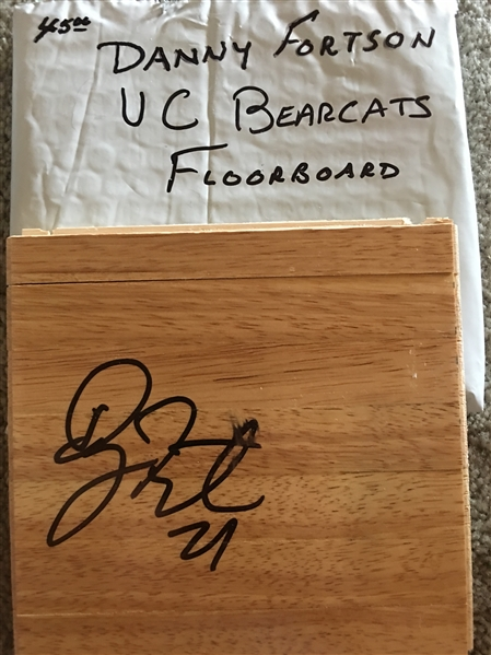 DANNY FORTSON UC BEARCATS SIGNED FLOOR BOARD