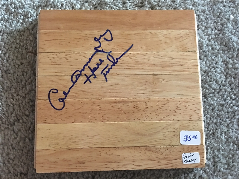 CALVIN MRPHY HOFer SIGNED NBA FLOOR BOARD