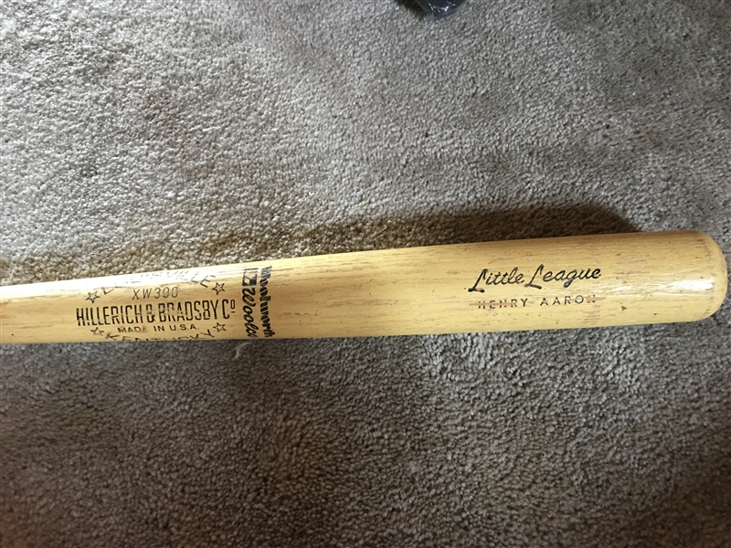 HANK AARON 1960s LITTLE LG BAT WOOLWORTHs 5&10