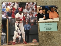 DAVE PARKER MOELLER SIGNED 8x10 w SHOW PIC + AUTOG TICKET