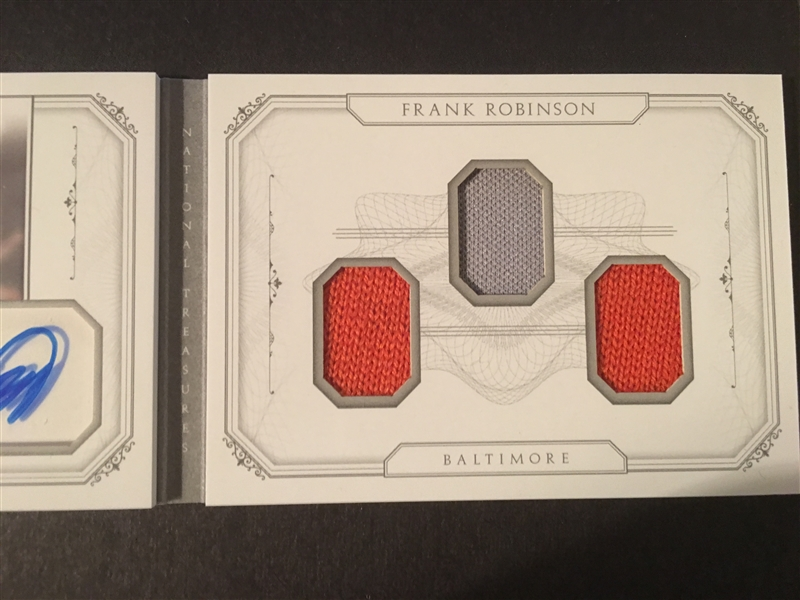 FRANK ROBINSON NATIONAL TREASURES AUTO BOOKLET 10/10 Compare $149 eBay