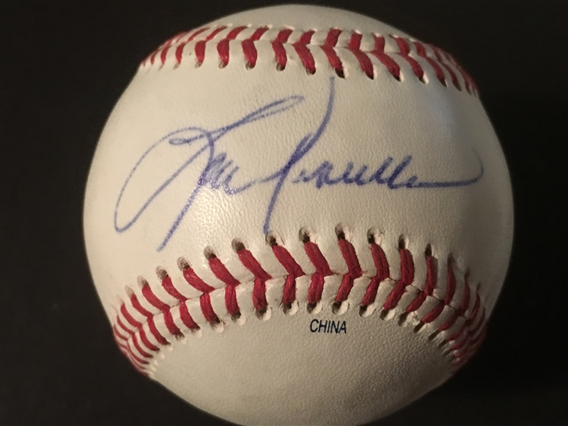 LOU PINIELLA SIGNED MINOR LG SNOW WHITE Reds 1990 W S Manager