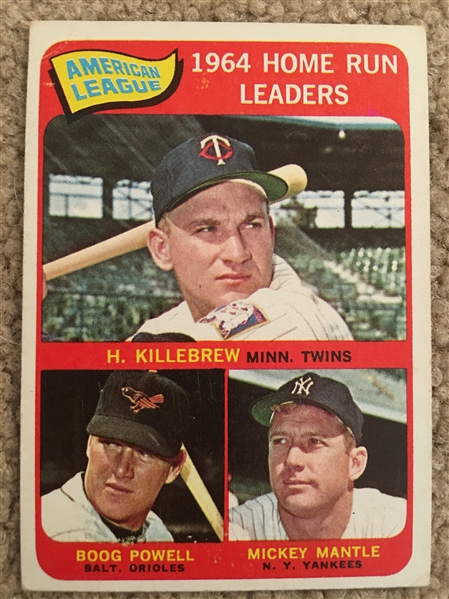 1965 TOPPS #3 HR LDRS: MICKEY MANTLE