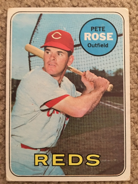PETE ROSE 1969 TOPPS #120 Books $50 - $150.00