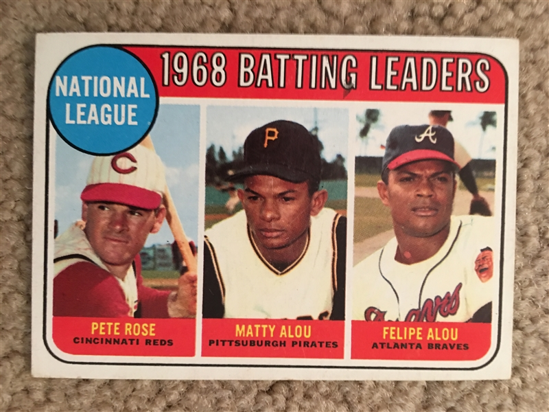 1969 TOPPS BATTING LDRS WITH PETE ROSE + ALOUS