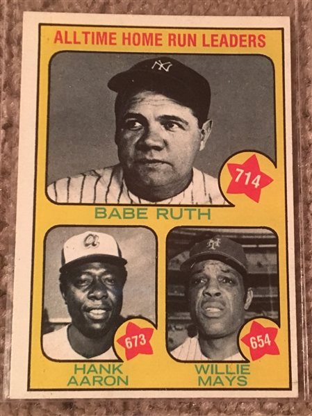 1973 SET BREAK: AARON, MAYS, RUTH #1 $40-$100 Nice!