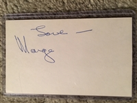 MARGE SCHOTT RIVERFRONT SIGNED 3x5 Bold !!
