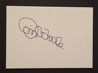 JIM OTOOLE MOELLER SIGNED BB CARD SIZE CARD