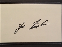 JOE NUXHALL SIGNED 3x5 INDEX CARD WITH COA