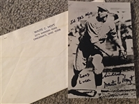 WAITE HOYT REDS YANKEES HOF SIGNED 3x5 PHOTO w ENVELOPE