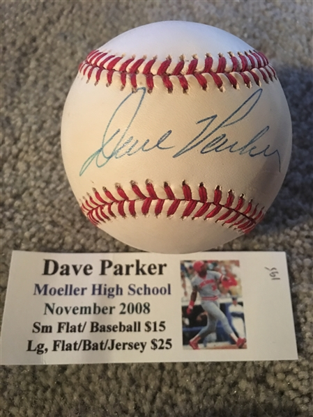 DAVE PARKER MOELLER SIGNED in CUSTOM CASE w TIX