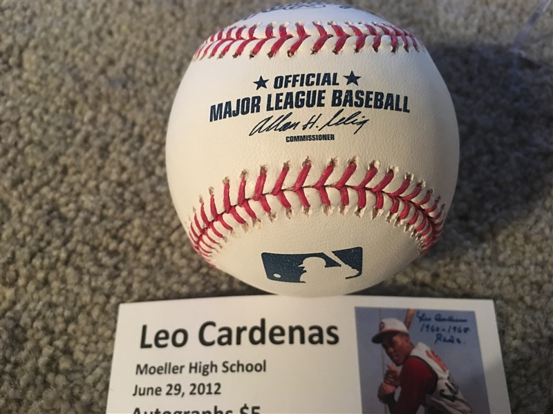 LEO CARDENAS MOELLER SIGNED in CASE w NAME + TIX