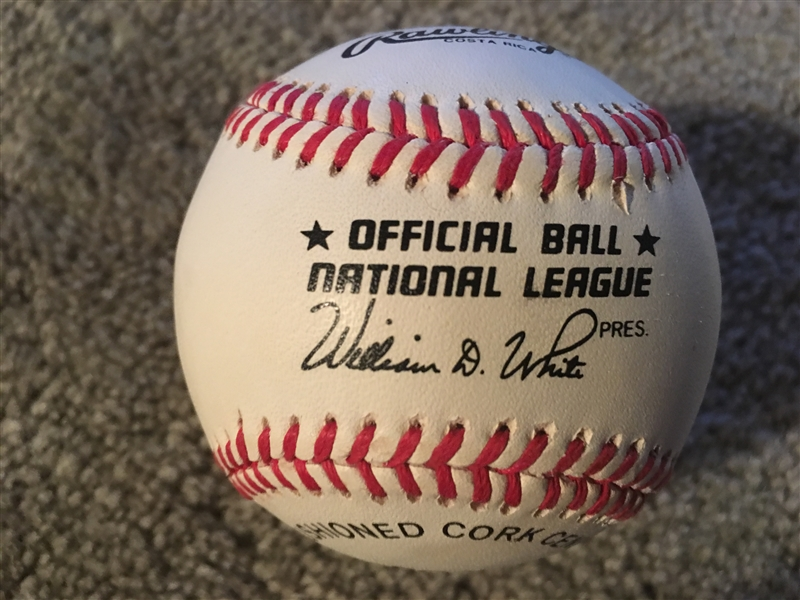 DOC GOODEN SIGND on $25 NL BALL in CASE