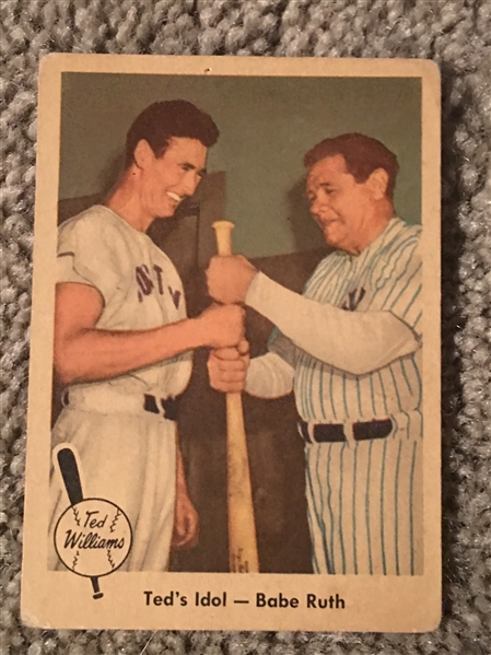 $$ BABE RUTH $$ 1959 FLEER TED WILLIAMS #2 $100- $300.00