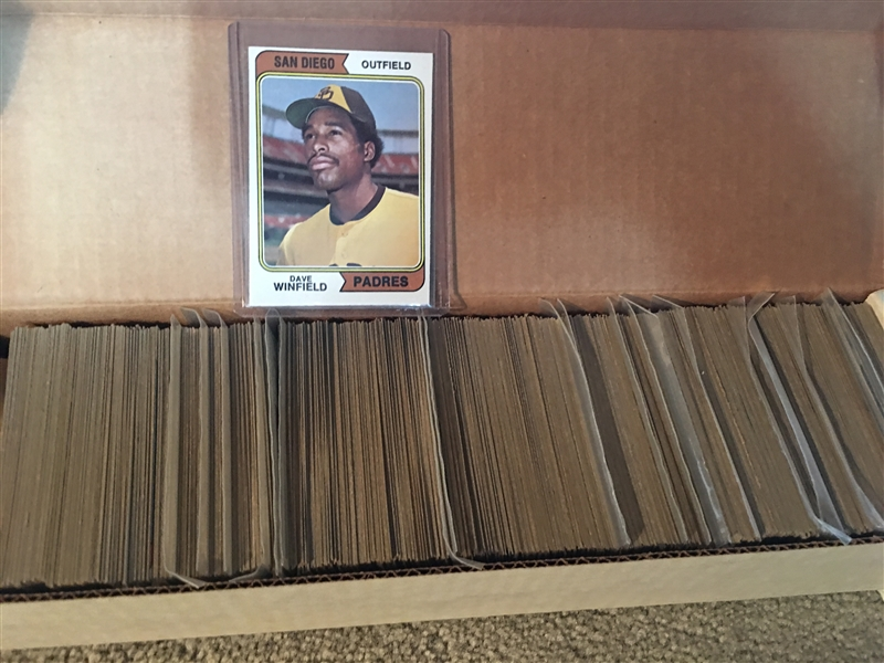 1974 TOPPS COMPLETE SET - STARS IN PENNY SLEEVES $250-$500.00 on eBay