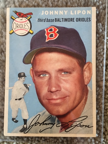 1954 Various Condition Partial Set Break: JOHNNY LIPON #19