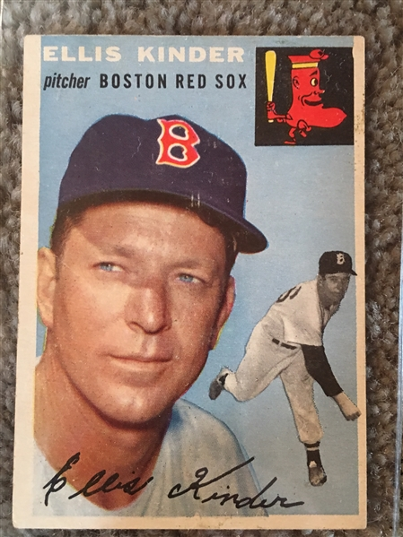 1954 Various Condition Partial Set Break: ELLIS KINDER #47