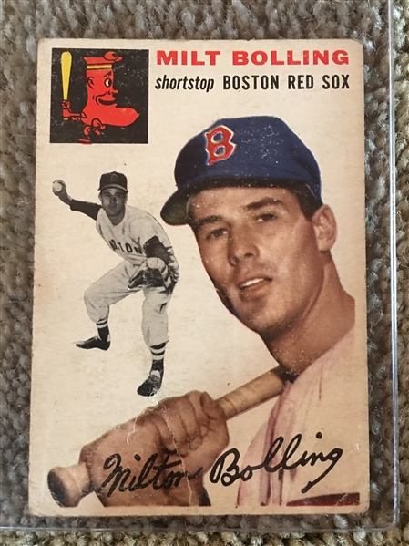 1954 Various Condition Partial Set Break: MILT BOLING #82