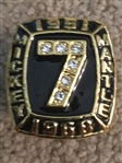 MICKEY MANTLE 536 HRs RETIRED REPLICA RING Sz 11 Beauty!!