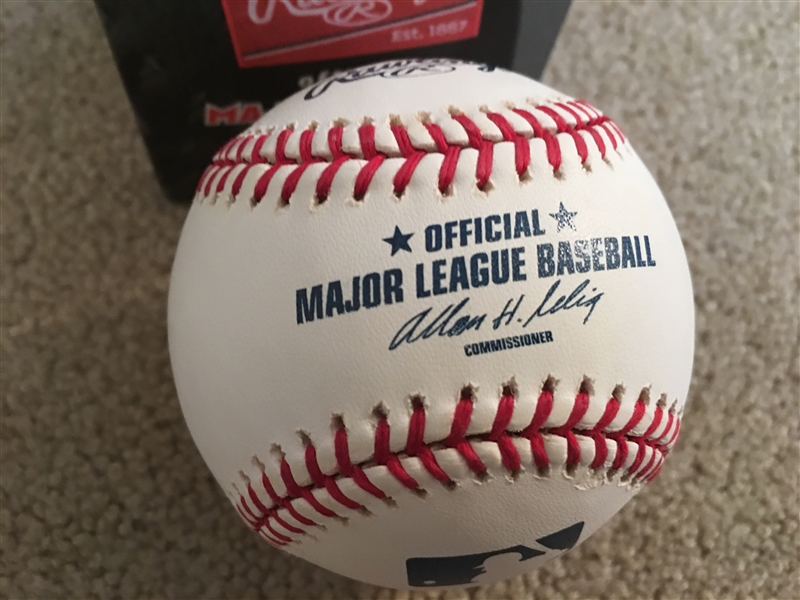 $ HOWIE JUDSON $ 1950s REDLEGS SIGNED on GEM MINT BALL in Box