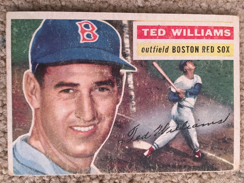 1955 TOPPS PARTIAL BREAK: TED WILLIAMS #5 Nice ! $500.00 - $1500.00