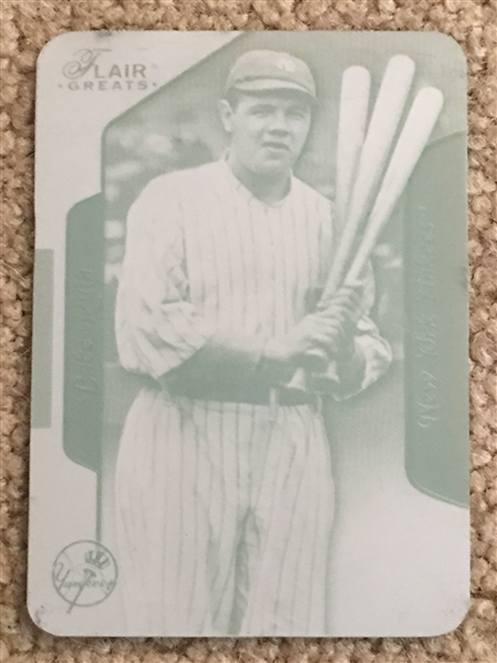 BABE RUTH FLEER FLAIR GREATS PINTING PLATE 1 of 1 Made