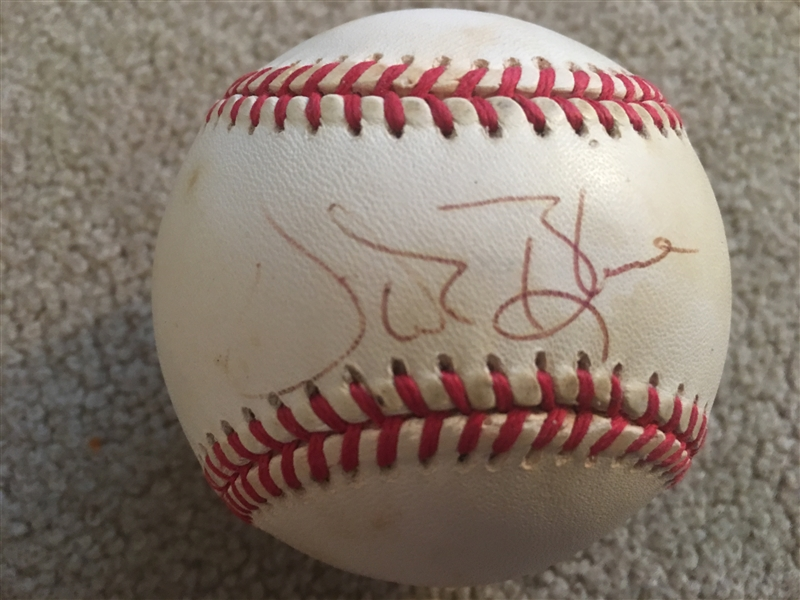 VIDA BLUE (Almost a Red) SIGNED A L BASEBALL
