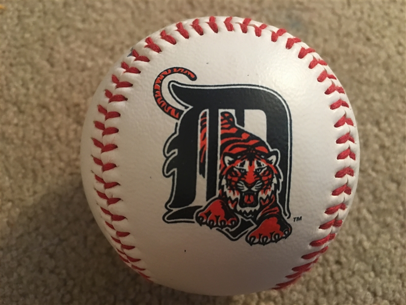 LANCE PARRISH Played 20 Years in ML SIGNED TIGERS LOGO BALL