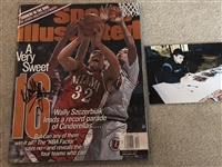 WALLY SZCZERBIAK Signed Full Sports Illustrated w/ Pic from Signing