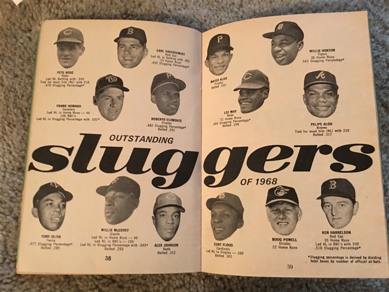 1969 FAMOUS SLUGGERS YEARBOOK with ROSE & YAZ Read !!