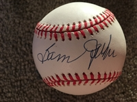SAM JETHROE 1930s 40s Negro Lg HOF Signed SNOW WHITE BALL