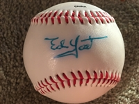 "ED ""The Walking Man"" YOST 1944-63 SIGNED OL BALL"