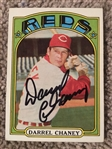 DARREL CHENEY HAND SIGNED 1972 TOPPS Big Red Machine