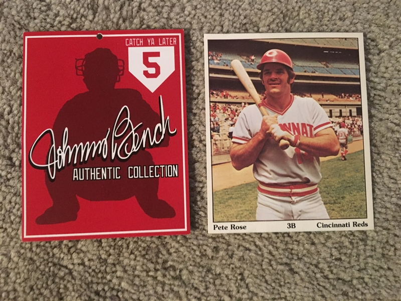 JOHNNY BENCH and PETE ROSE CARDS