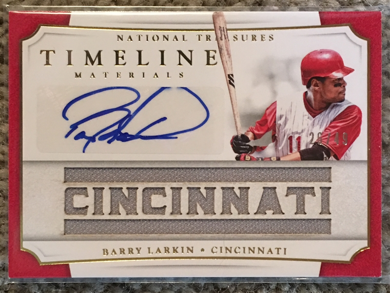 BARRY LARKIN AUTOGRAPH & CINCINNATI JERSEY 26/49 Made