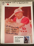 LEO CARDENAS 4 INSCRIPTIONS MOELLER SIGNED 8x10 PHOTO with SHOW TICKET