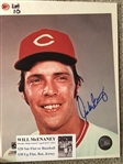 WILL MCENANEY MOELLER SIGNED 8x10 PHOTO with SHOW TICKET