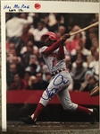 HAL MCRAE REDS SIGNED 8x10 PHOTO - Bold - Never Sold One