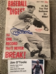 JIM OTOOLE DECEASED REDS SIGNED 1963 BOOK with MOELLER SHOW TICKET