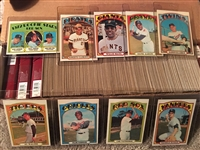 1972 TOPPS BASEBALL PARTIAL / NEAR SET Nice Condition READ !! Bk $1500.00- $3250.00