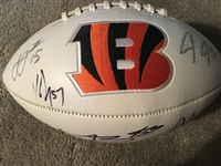 7 BENGALS with DALTON SIGNED FULL SIZE BENGALS LOGO FOOTBALL -- ADD MORE !!