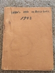 1942 WHOs WHO in BASEBALL RARE WAR YEARS ISSUE with HOME MADE COVER Very Cool