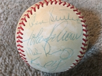 1980s DODGERS TEAM BASEBALL? with DON SUTTON HOFer on OFFICIAL A L BASEBALL