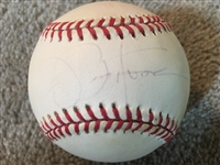 "JOE ""PEPPY"" PEPITONE YANKEES SIGNED VINTAGE A L BASEBALL"