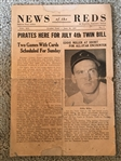 1947 NEWS of the REDS from CROSLEY FIELD with EWELL The Whip BLACKWELL.  73 Yr Old